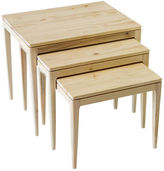Ave Home S/3 Mollie Nesting Tables, Natural