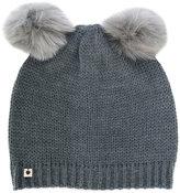 Twin-Set faux fur pom pom beanie - women - Acrylic/Polyester/Wool - One Size