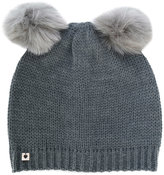 Twin-Set faux fur pom pom beanie