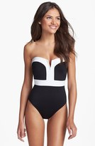 LaBlanca La Blanca 'Milano' Colorblock Bandeau Swimsuit (Online Only)