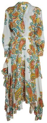 Lanvin Silk Floral Shirt Dress