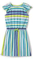 Lands' End Girls Plus Flutter Sleeve Knit Dress-Multi Painted Dot