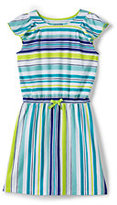 Lands' End Little Girls Flutter Sleeve Knit Dress-Multi Painted Dot