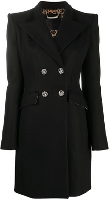 Philipp Plein Double-Breasted Fitted Coat