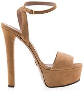 Gucci Leila Suede Platform Sandals