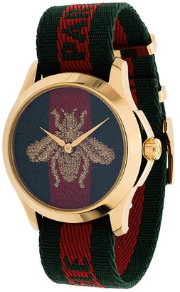 Gucci Striped Bee Watch