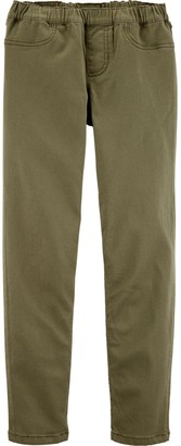 Carter's Girls 4-12 Twill Pull-On Pants