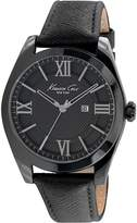 Kenneth Cole Women's 40mm Black Leather Band Steel Case Quartz Analog Watch 10023858