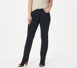 NYDJ Marilyn Color Straight Jeans - Black