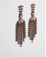 Express rhinestone fringe drop earrings