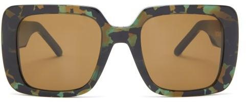 Christian Dior Wildior Oversized Square Acetate Sunglasses - Green