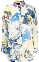Ermanno Scervino oversized abstract-print shirt