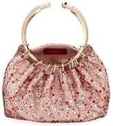 Valentino Bebop Loop Embellished Clutch Bag