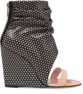 Jerome Dreyfuss Ella Cale perforated leather wedge sandals
