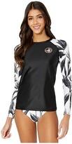 Body Glove Black White Sleek Rashguard (Black) Women's Swimwear