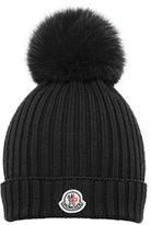 Moncler Girls' Wool Pompom Beanie Hat