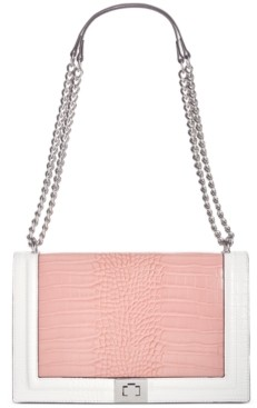 INC International Concepts Inc Ajae Croco-Colorblock Flap Crossbody, Created for Macy's