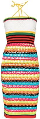 AGR Stripe Knit Midi Dress