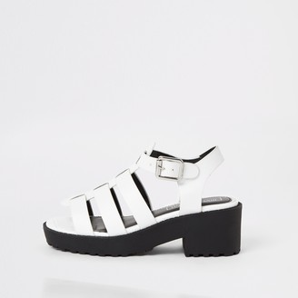 River Island Girls White chunky gladiator sandals