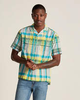 White Mountaineering Button Front Plaid Short Sleeve Shirt