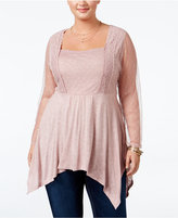 American Rag Trendy Plus Size Handkerchief-Hem Top, Only at Macy's