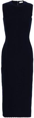 Victoria Beckham Textured Wool-blend Midi Dress