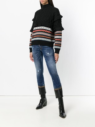 DSQUARED2 Runway flared cropped jeans