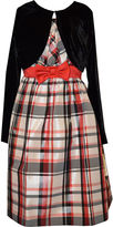 Bonnie Jean Plaid Dress and Cardigan - Girls Plus