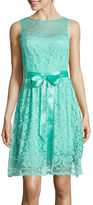 Liliana Simply Sleeveless Lace Fit-and-Flare Dress