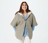 Aran Craft Irish Tweed Cape with Merino Wool Lining and Hood