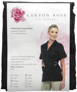 Canyon Rose Wrap Front Salon Esthetician Jacket
