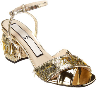 N°21 N21 Sequin-Fringed Leather Sandal