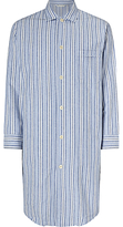 Derek Rose Brushed Cotton Stripe Nightshirt, Blue/white