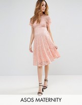 Asos Lace Dress with Flutter Sleeve