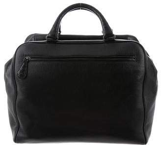 Bottega Veneta Intrecciato-Trimmed Leather Weekender