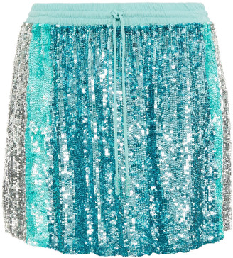 retrofete Nora Sequined Chiffon Mini Skirt