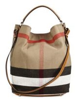 Burberry Ashby Medium House Check Cotton Shoulder Bag