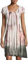 XCVI Giselle Tie-Dye Linen Dress, Mediterranean Plum