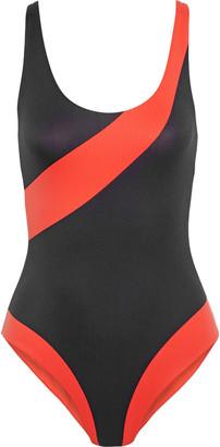 Onia Rachel Open-back Printed Swimsuit