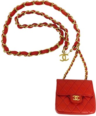 Chanel Red Leather Clutch bags