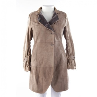 Brunello Cucinelli Brown Leather Coat for Women