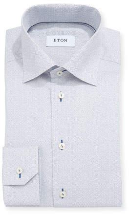 Eton Octagon-Print Dress Shirt