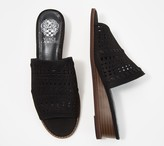 Vince Camuto Leather Wedge Slide Sandals- Rallema