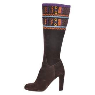 Miu Miu \N Brown Suede Boots