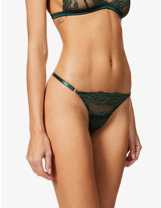 Coco de Mer Seraphine high-rise lace and satin thong