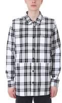 Off-White Whitecheck White/black Cotton Shirt