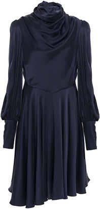 Zimmermann Cowl Draped Stretch-silk Charmeuse Mini Dress