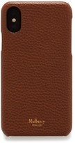 Thumbnail for your product : Mulberry iPhone X/XS Cover Oak Natural Grain Leather