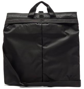 Y-3 Logo-print Nylon Tote Bag - Mens - Black