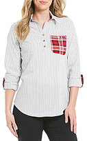 Westbound Petites One Pocket Popover Shirt